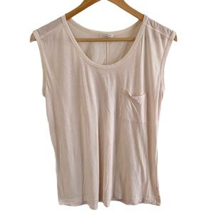 Club Monaco light pink Pocket Tank top blouse
